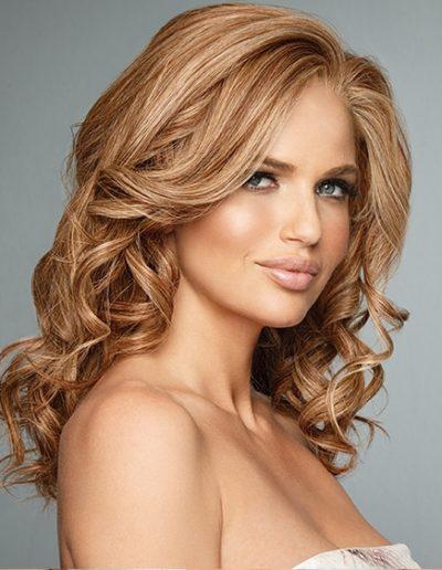 Bronze Wave Curls Woman Hair Raquel Couture