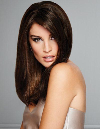 Straight Rich Brunette Woman Hair Raquel Couture